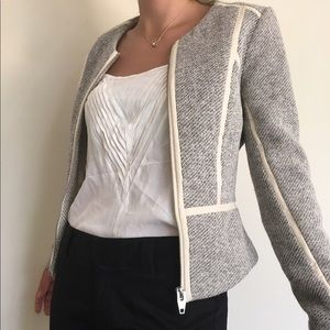 H&M jacket blazer leather tweed 2